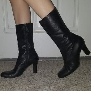 DKNY Leather Boots 8.5B